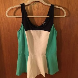 Express Colorblock Peplum Tank Small